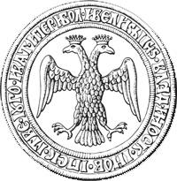 Оборотная сторона печати Ивана III, 1497 г.