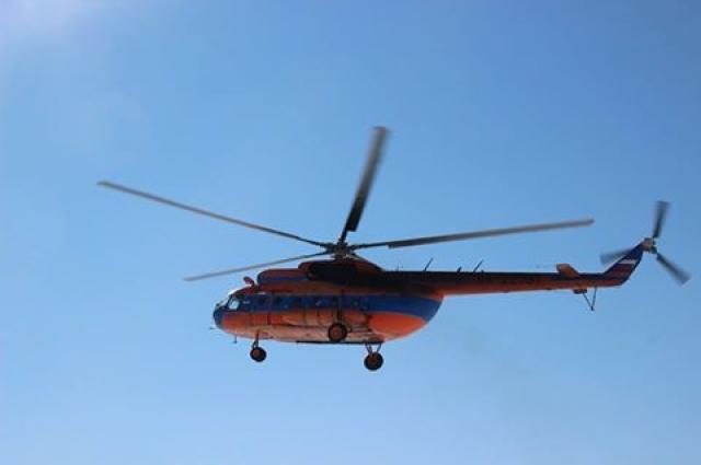 Вертолет опоздал, но прилетел.