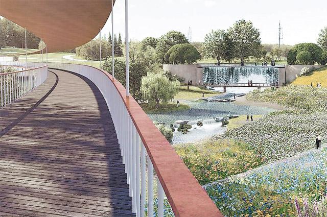 Таким будет ландшафтный парк в Митине.