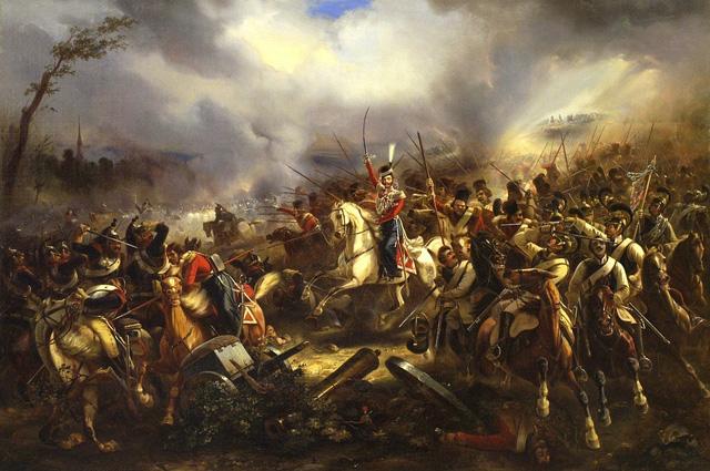 Атака лейб-казаков под Лейпцигом 4 октября 1813 года. Карл Рехлин.