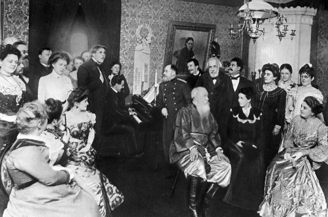 Музыкальный вечер у Владимира Васильевича Стасова. 1901 г.