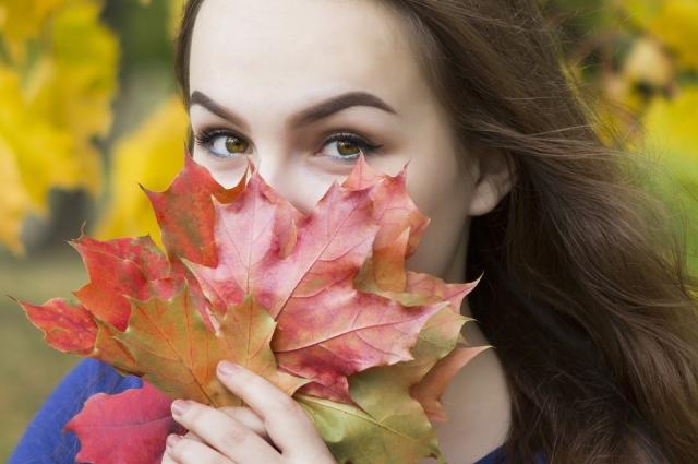 Как пример - яркие кленовые листья.