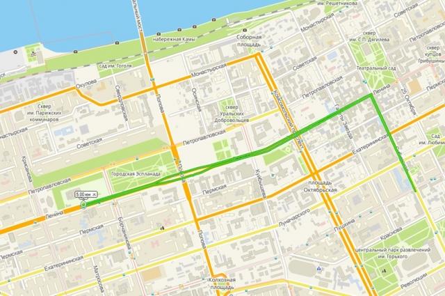 Схема трассы пятикилометрового забега, который впервые пройдёт в рамках марафона.