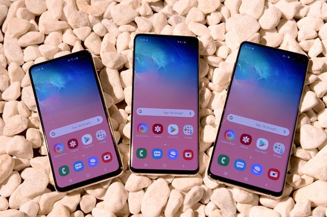 Samsung Galaxy S10e, S10 и S10+.