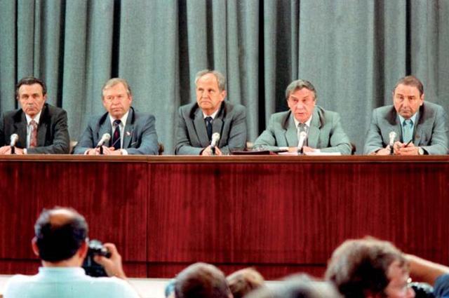 Пресс-конференция ГКЧП в здании МИД СССР 19 августа 1991 года