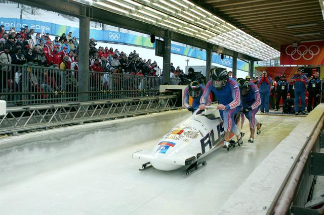 Четвёрка А. Зубкова на Олимпиаде в Турине