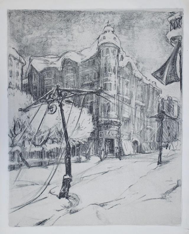 Художница рисовала улицы и жителей блокадного города.