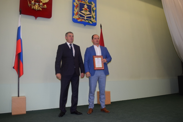 Гебернатор Брянской области Александр богомаз и Евгений Гавричков.