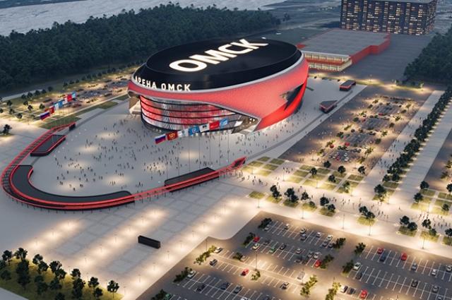 К чемпионату мира в Омске строится новая ледовая арена.