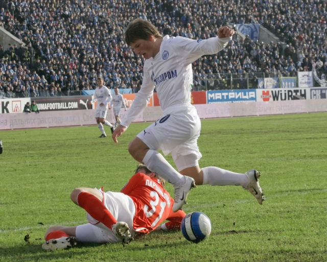 Андрей Аршавин в матче против «Спартака», 2008 г.