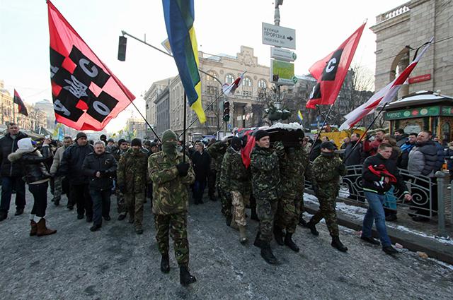 Марш УНА-УНСО в Киеве.