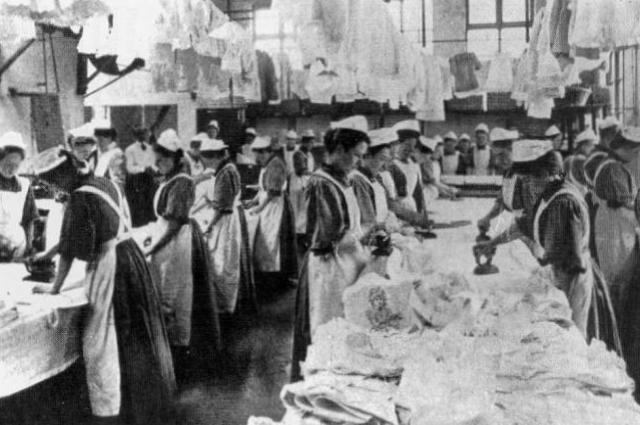 Прачечная Магдалины в Англии, начало XX века.