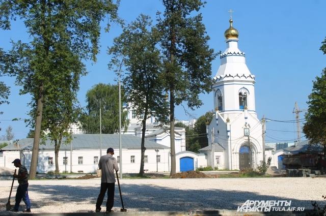 Благоустройство Щегловского мужского монастыря.