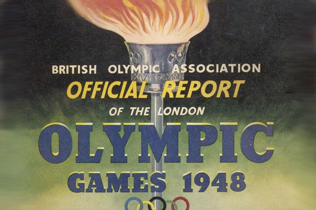 Афиша Олимпиады 1948 года в Лондоне