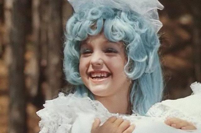 Таня Проценко вроли Мальвины вфильме «Приключения Буратино».