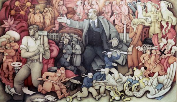Картина Константина Михайловича Махарадзе В. И. Ленин . Репродукция