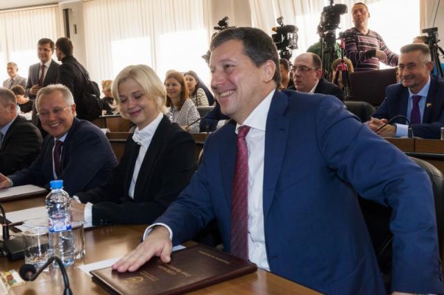 Олег Сорокин за заседании Гордумы