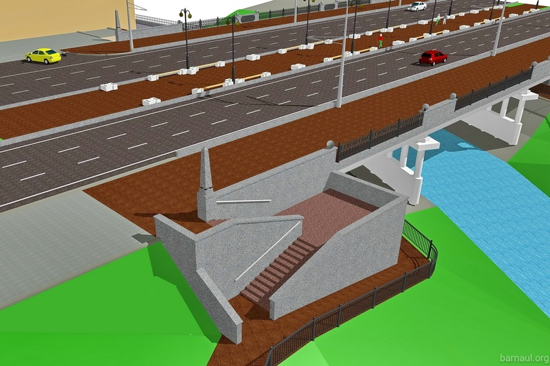 Реконструкция моста через Барнаулку