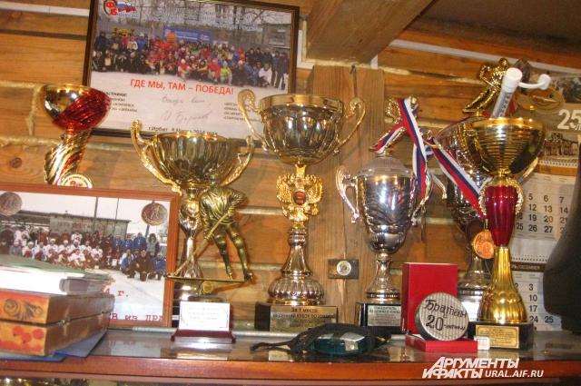 Ребята выиграли большое количество кубков и медалей.