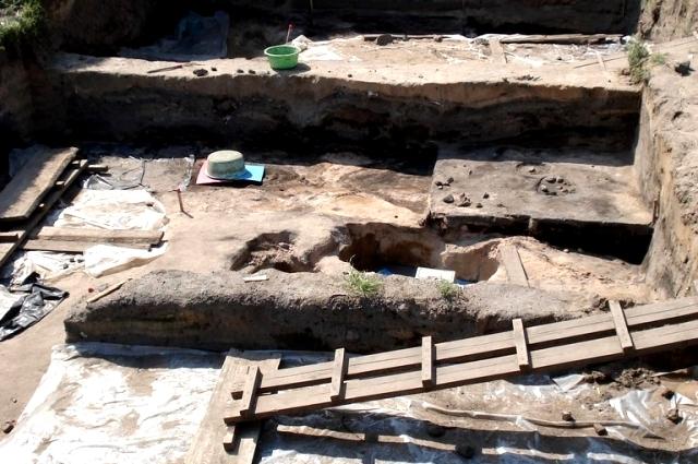 Археологическая экспедиция в Гнездово в 2011 году.