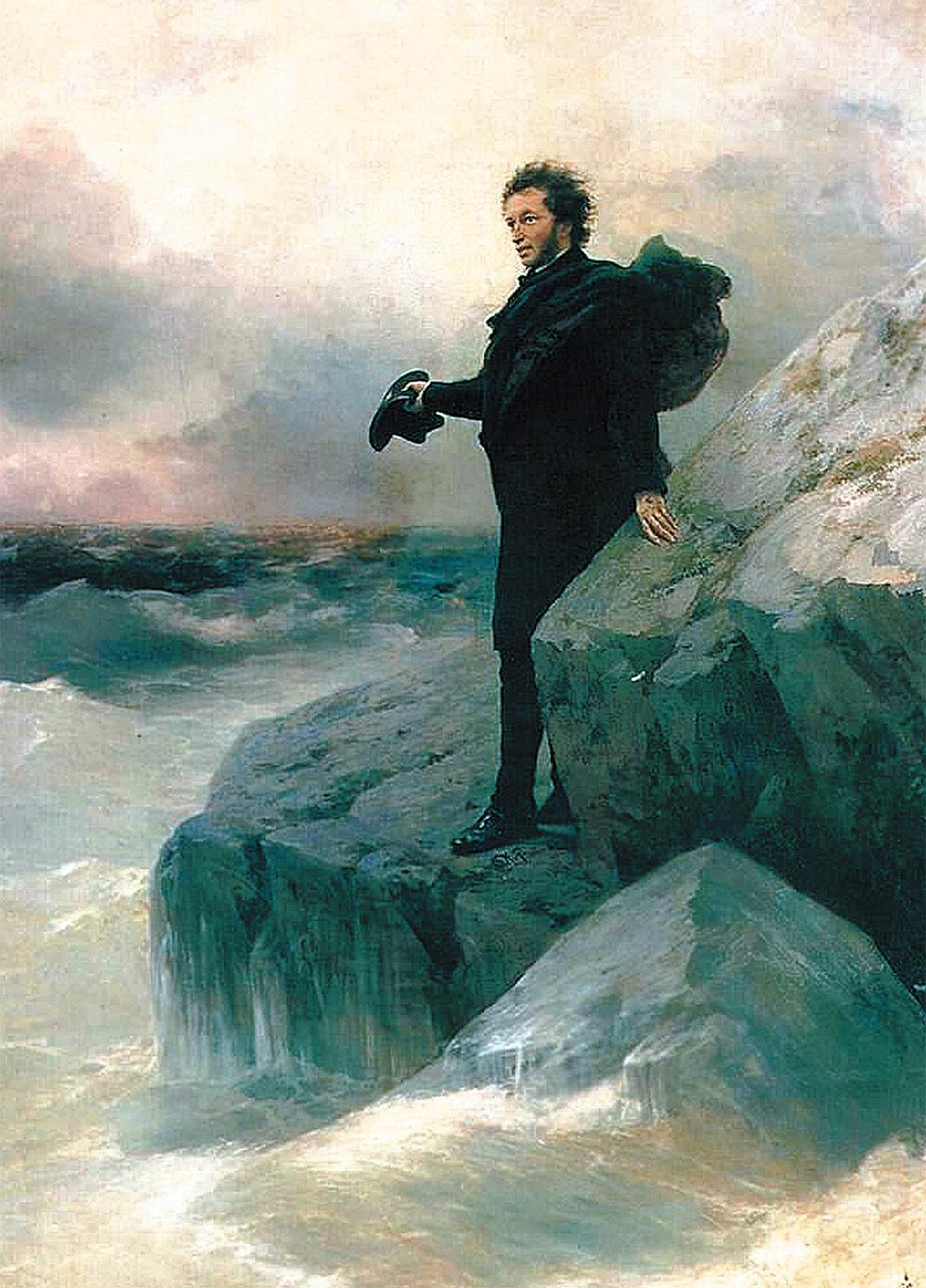 «Прощание Пушкина с морем», 1877 г., совместно с И. Репиным.