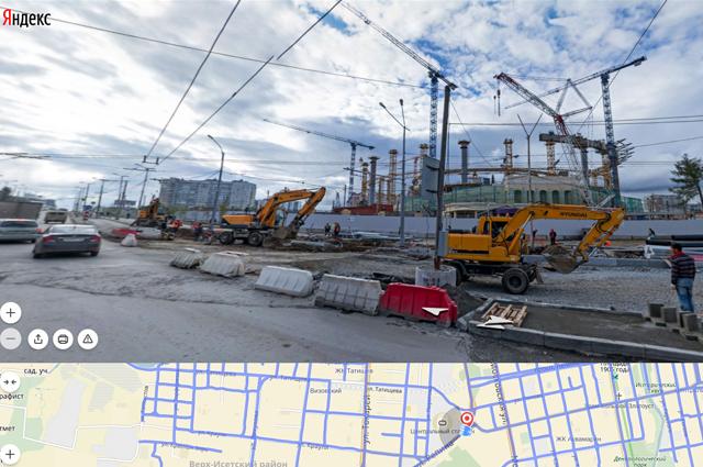 На Яндекс. Картах можно увидеть «стройку века» - Центральный стадион.