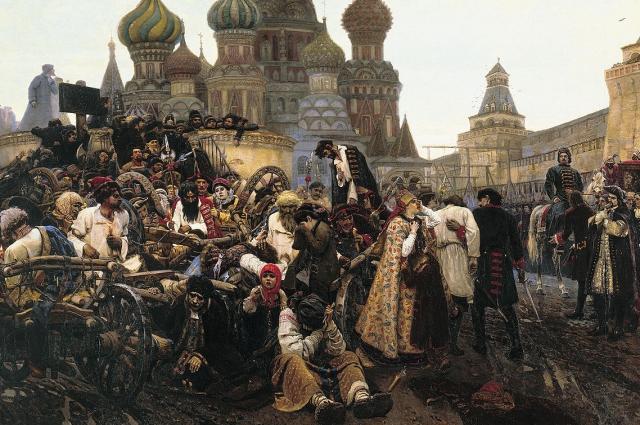 В средние века в России смертные казни чаще всего были публичными, проходили на городских площадях при огромном стечении народа.