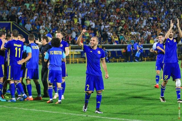 После матча игроки ФК «Ростов» устроили пляски победителей.