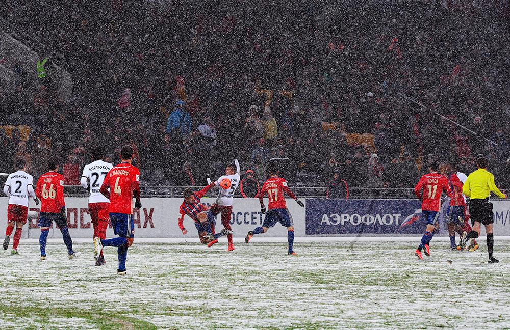 Матч между ПФК ЦСКА (Москва) иФК«Амкар» (Пермь).