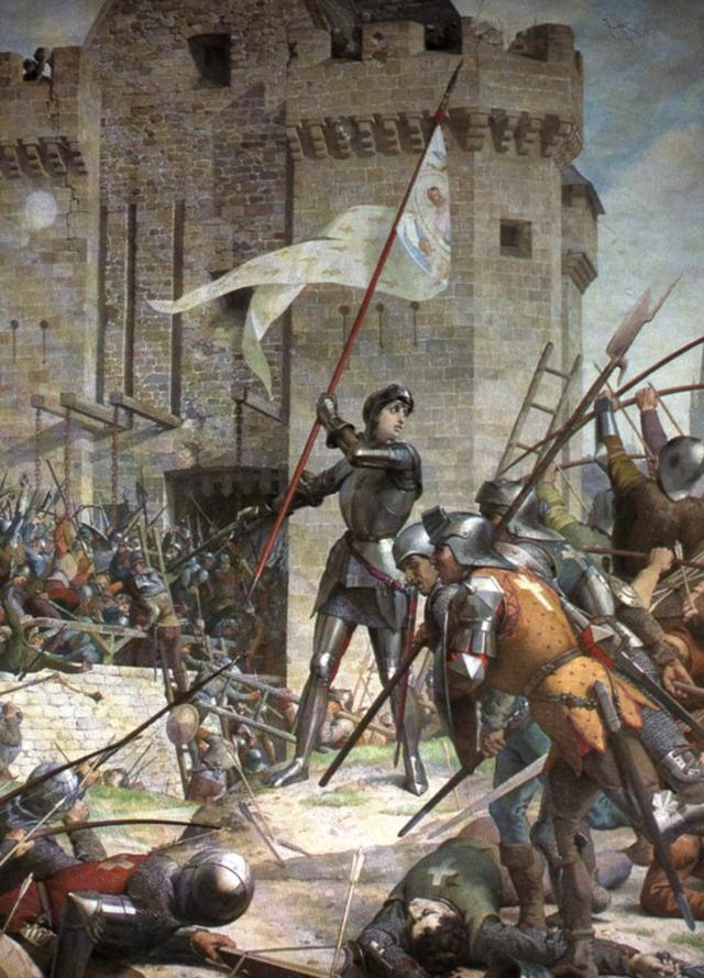 Жанна д'Арк при осаде Орлеана. Ш. Ленепвё.
