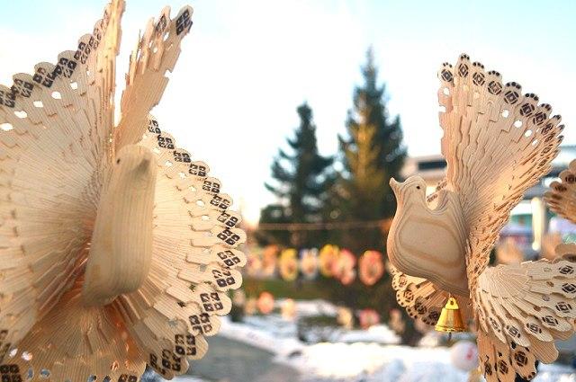 Парочка голубей.