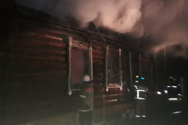 Пожар в Бирске