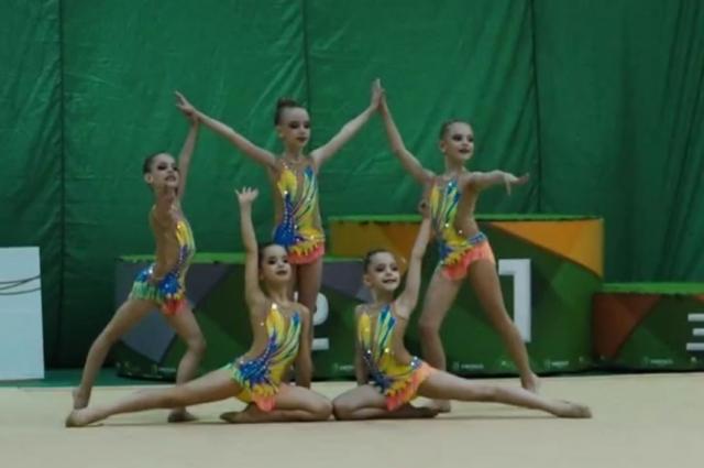 Соревнования по художественной гимнастике.