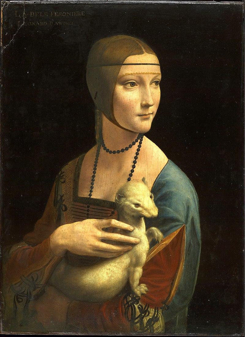 Леонардо да Винчи. Картина Дама с горностаем.