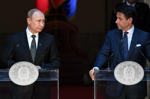 Владимир Путин и Джузеппе Конте.