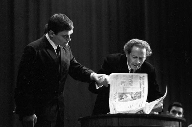 Вольф Григорьевич Мессинг во время психологического опыта. 1968 год