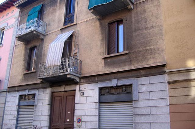 Дом на улице Глюка в Милане, в котором прошли ранние годы Адриано Челентано
