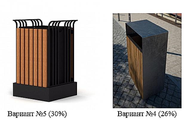 Самый популярный вариант дизайна уличных урн.