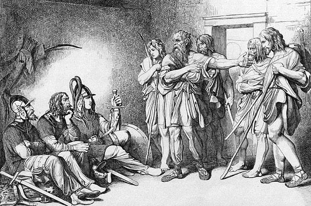 «Призвание варягов». Гравюра Фёдора Бруни, 1839 г.