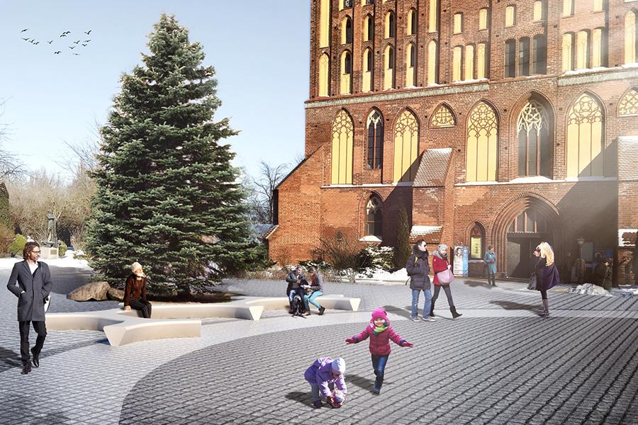 Так будет выглядеть площадь у Кафедрального собора.