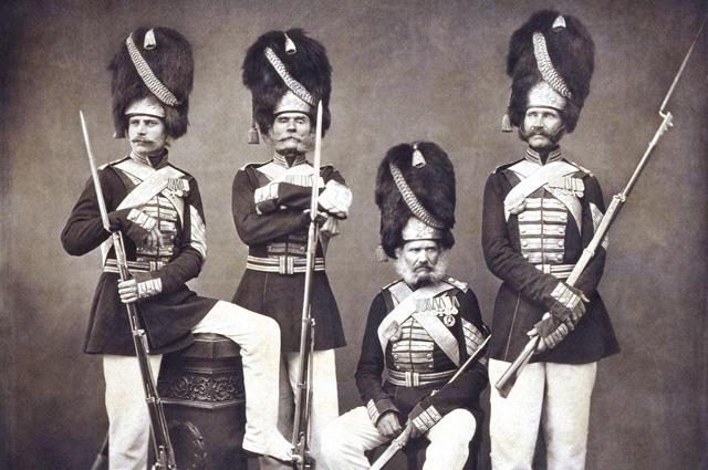 Портрет группы дворцовых гренадер.