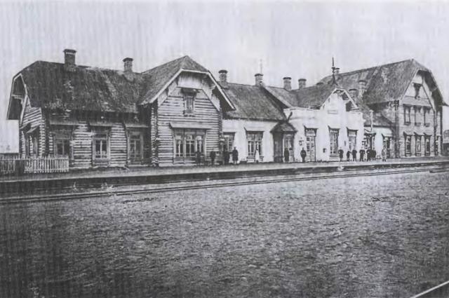 Станция Исакогорка в начале XX века.