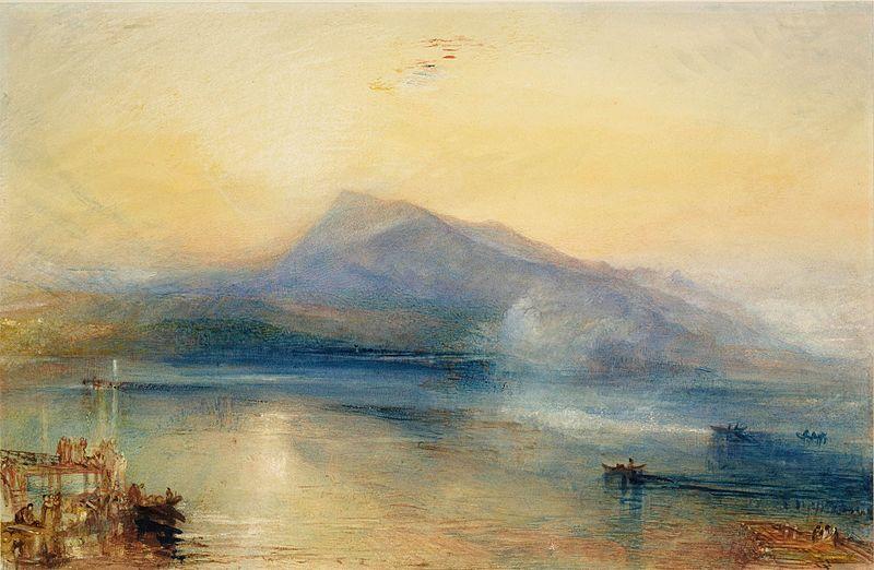 Джозеф Мэллорд Уильям Тернер. Темная Риги (гора у Люцернского озера в Швейцарии)
