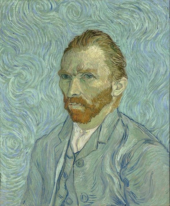 Автопортрет, Ван Гог. 1889