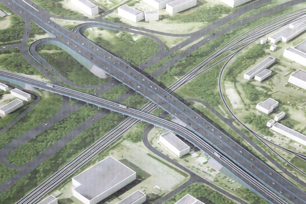 Проект транспортной развязки около Свердловского проспекта в Челябинске