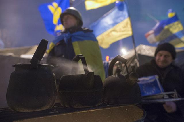 Палаточный городок на площади Независимости в Киеве