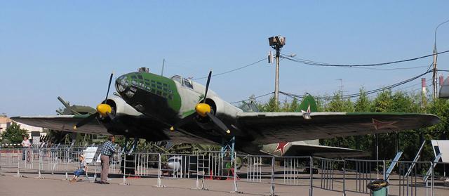 Дальний бомбардировщик ДБ-3ф (Ил-4). На самолёте этого типа совершил свой подвиг экипаж Н. Ф. Гастелло.