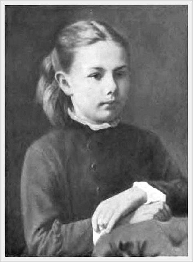 Надежда Крупская в детстве, 1879 год.