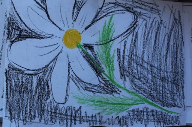 Арт-терапия с осуждёнными. Этот рисунок нарисовала молодая пермячка, не сумевшая выносить ребёнка.