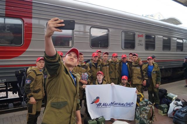 Красноярская команда перед отправкой в зону затопления.